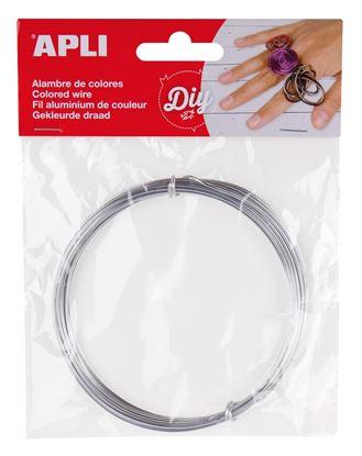 Obrázek Modelovací drát APLI stříbrný / šířka 1,5mm / délka 5m