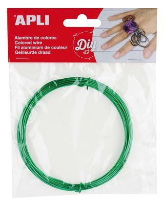 Obrázek Modelovací drát APLI zelený / šířka 1,5mm / délka 5m