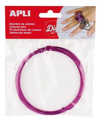 Obrázek Modelovací drát APLI fialový / šířka 1,5mm / délka 5m