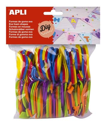 Obrázek Pěnovka APLI - číslice / mix barev / 120 ks