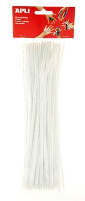 Obrázek Modelovací drátky APLI bílé / 30 cm / 50 ks