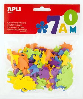Obrázek Pěnovka APLI zvířátka / mix velikostí a barev / 100 ks