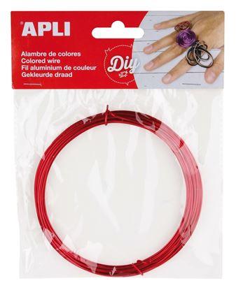 Obrázek Modelovací drát APLI červený / šířka 1,5mm / délka 5m