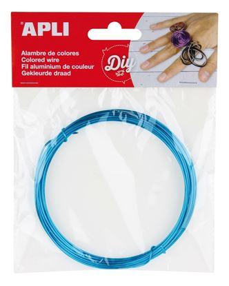 Obrázek Modelovací drát APLI modrý / šířka 1,5mm / délka 5m