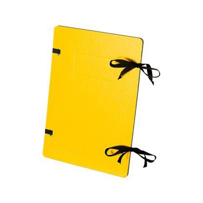 Obrázek Spisové desky s tkanicí EMBA - žlutá