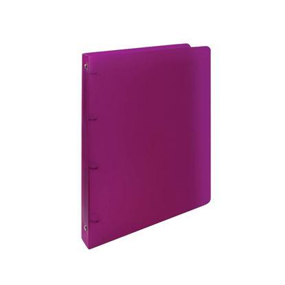 Obrázek Desky A4 kroužkové Opaline - 4 - kroužek / magenta / tmavě růžová