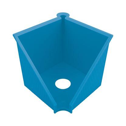 Obrázek Zásobník na záznamní kostky Herlitz GREENline - modrý / prázdný