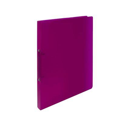 Obrázek Desky A4 kroužkové Opaline - 2 - kroužek /  magenta / tmavě růžová