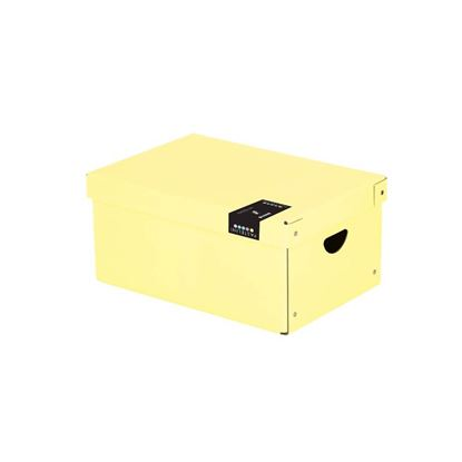 Obrázek Krabice úložná lamino PASTELINI - žlutá / 35,5 x 24 x 16 cm
