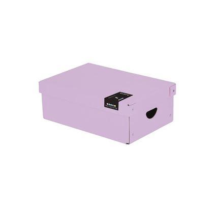 Obrázek Krabice úložná lamino PASTELINI - fialová / 35,5 x 24 x 9 cm