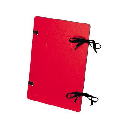 Obrázek Spisové desky s tkanicí EMBA - červená