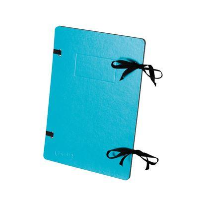 Obrázek Spisové desky s tkanicí EMBA - modrá