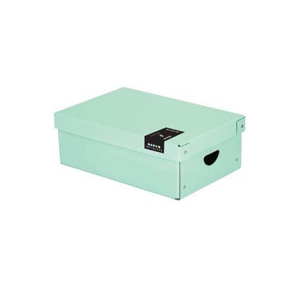 Obrázek Krabice úložná lamino PASTELINI - zelená / 35,5 x 24 x 9 cm