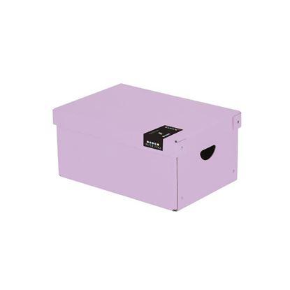 Obrázek Krabice úložná lamino PASTELINI - fialová / 35,5 x 24 x 16 cm