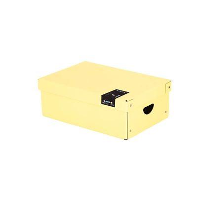 Obrázek Krabice úložná lamino PASTELINI - žlutá / 35,5 x 24 x 9 cm