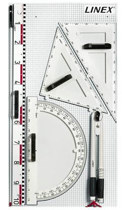 Obrázek Magnetické rýsovací potřeby na školní tabuli LINEX - sada 6 ks
