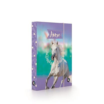 Obrázek Box na sešity - A5 / kůň - bílý