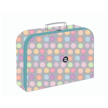 Obrázek Školní kufřík - puntíky / pastel