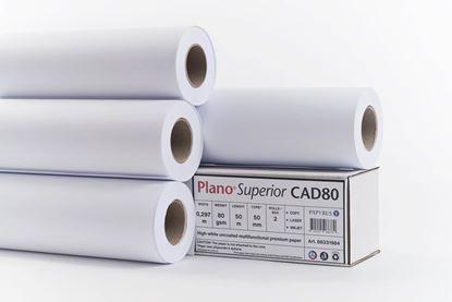 Obrázek Plotterové role Plano Superior - 297 mm x 50 m x 50 mm / 80 g