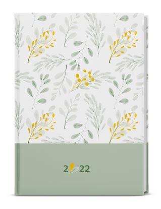 Obrázek Diář LAMINO - denní B6 / bílo-zelený