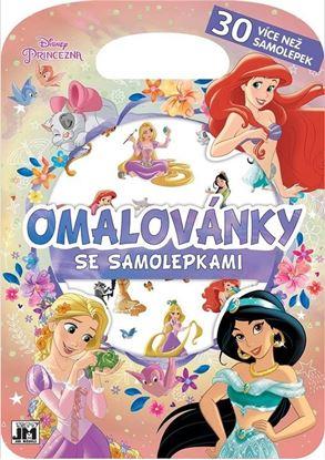 Obrázek Omalovánky se samolepkami A4 - Princezny