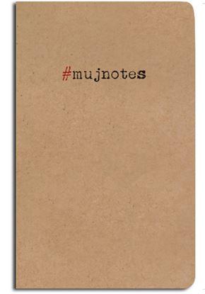 Obrázek Notes linkovaný - A5 - kraft - #mujnotes